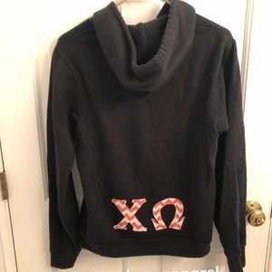 Chi O American Apparel Zip-up hoodie sweatshirt